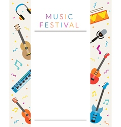 Music Instruments Objects Poster vector image