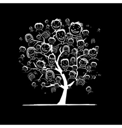 People tree for your design vector image vector image