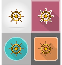 pirate flat icons 09 vector image