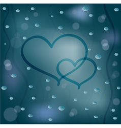 Rainy background vector image vector image
