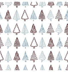 Seamless pattern with hand drawn different vector image