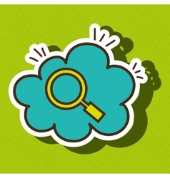 search cloud find tool vector image