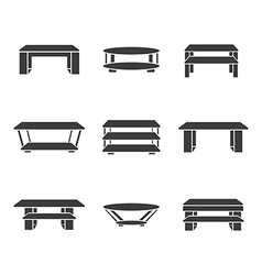 Set of tables vector image vector image
