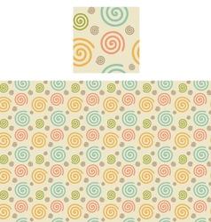 Spirals Pattern Swatch vector image vector image