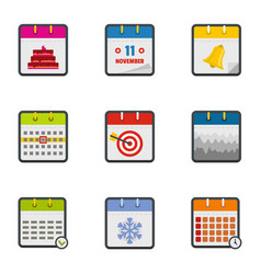 yearbook icons set flat style vector image