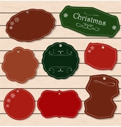 Set of Vintage Christmas and New Year elements vector image