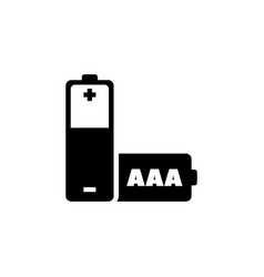 aaa battery flat icon vector image