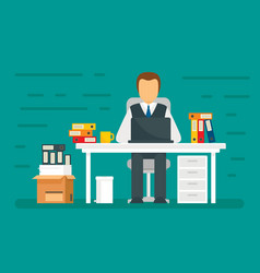 administrator concept banner flat style vector image