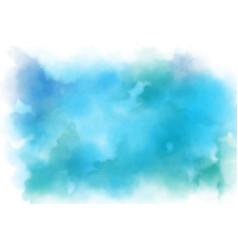 Aqua marine blue watercolor splash background vector