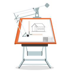 architect engineer workplace with culman vector image