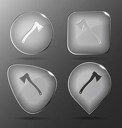 Axe Glass buttons vector