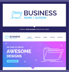 Beautiful business concept brand name archive vector
