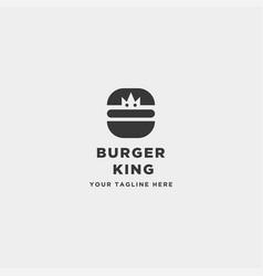Burger spoon fork simple flat logo design vector