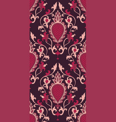 Burgundy pattern with damask vector