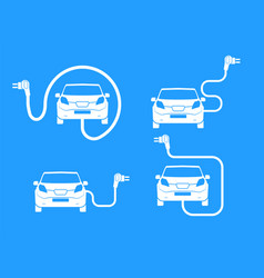 car charging station symbol road sign template of vector image