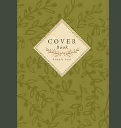 cover book decorated with hand-drawn olive vector image