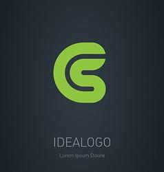 CS initial logo CS initial monogram logotype vector image