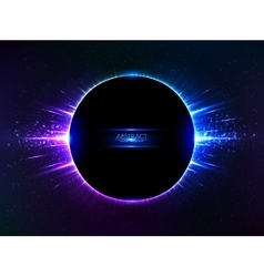 Dark blue shining cosmic ring vector image