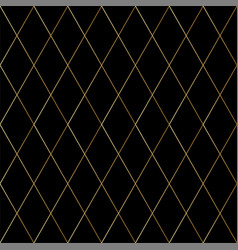 dark luxury seamless pattern with gold cross lines vector image