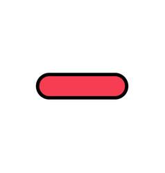 Delete less minus remove flat color icon icon vector