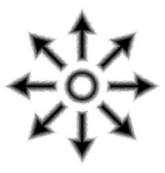 Expanding icon vector