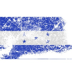 Flag of Honduras with old texture vector image