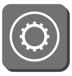Gear Rounded Square Icon vector