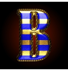 golden and blue letter b vector image