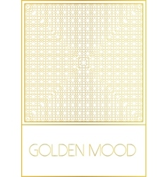 Golden mood pattern vector