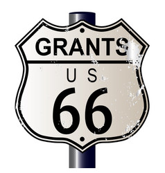Grants route 66 sign vector