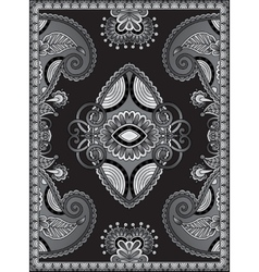 Grey Ukrainian Oriental Floral Ornamental Carpet vector