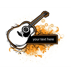 Grunge music frame vector
