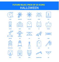 Halloween icons - futuro blue 25 icon pack vector