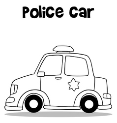 Hand draw of police car vector