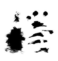 hand drawn monochrome texture elements set vector image