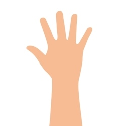 hand human finger index icon vector image