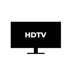hdtv graphic design template vector image