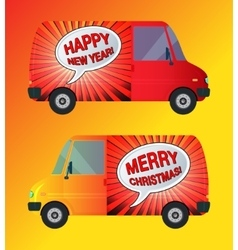Holiday bus isolated vector