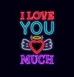 i love you so much fashion slogan for printing vector image