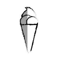 Ice cream isolated icon vector