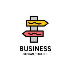 Index navigation road business logo template flat vector