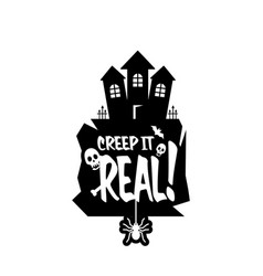 keep it real typography design vector image