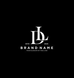 Letter dl logo design vector