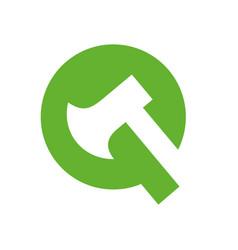 Letter q axe logo icon design template elements vector