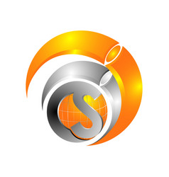 letter s business logo vector image