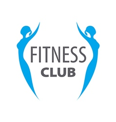 Logo two girls for fitness club vector