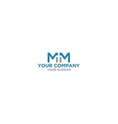 Mm church logo design vector