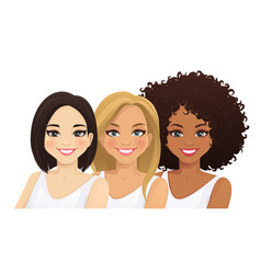 multiethnic women vector image