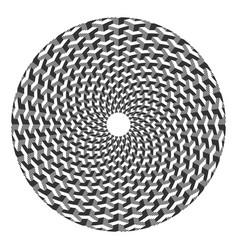 op art circle pattern vector image