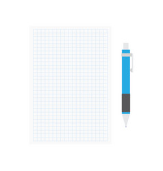 opened notepad with pen vector image